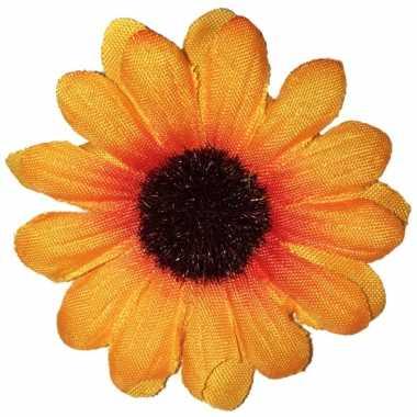Feest zonnebloem broche 5 cm