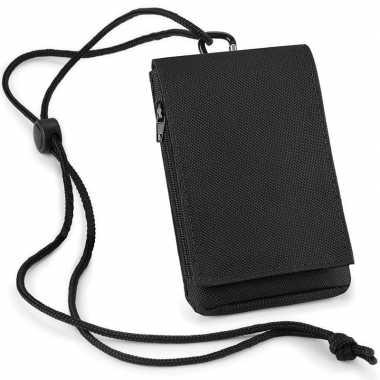 Feest zwart telefoon tasje met halskoord
