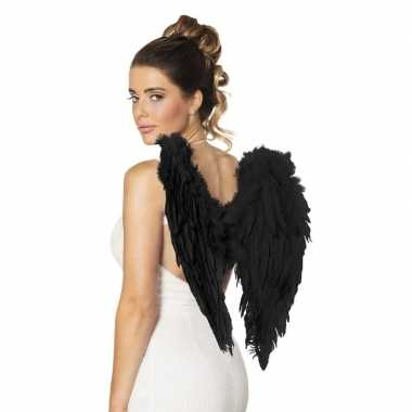 Zwarte engelen vleugels 50 cm