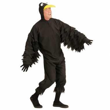 Feest zwarte kraai outfit voor volwassenen