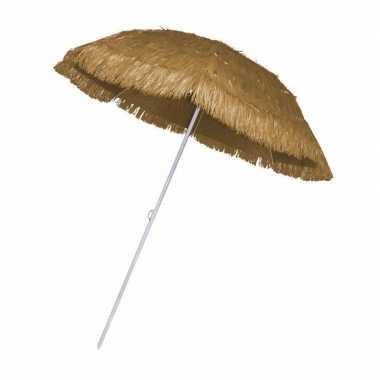 Parasol voor een hawaii feest beige