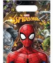 12x marvel spiderman themafeest uitdeelzakjes 16 x 23 cm