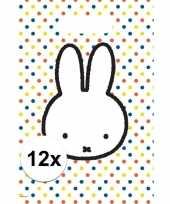 12x nijntje themafeest uitdeelzakjes snoepzakjes 30 x 21 cm