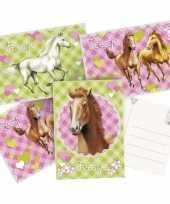 12x paarden themafeest uitnodigingen kaarten