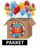 16 jarige feestversiering pakket