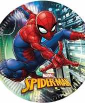 16x marvel spiderman themafeest bordjes 23 cm