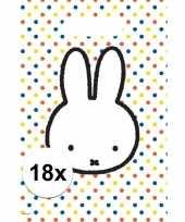 18x nijntje themafeest uitdeelzakjes snoepzakjes 30 x 21 cm