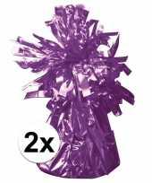 2 ballongewichten paars 170 gr