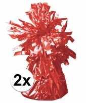 2 ballongewichten rood 170 gr