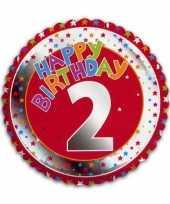 2 jaar helium ballon happy birthday
