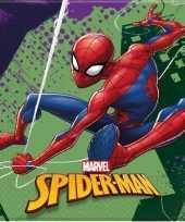 20x marvel spiderman themafeest servetten 33 x 33 cm