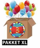 3 jarige feestversiering pakket xl