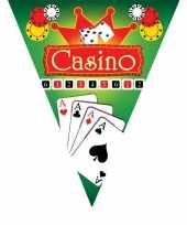 3x feestdecoratie vlaggenlijnen casino