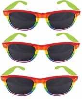 3x regenboog feest brillen voor volwassenen