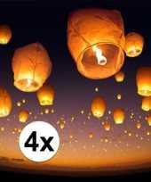 4 x witte wensballon 50 x 100 cm