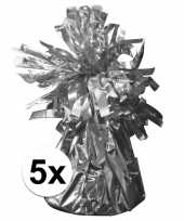 5 ballongewichten zilver 170 gr