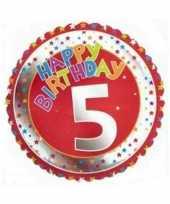 5 jaar helium ballon happy birthday
