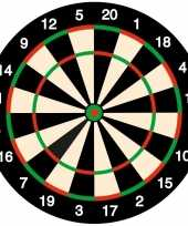 50x bierviltjes onderzetters dartbord darten feest thema