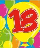 60x 18 jaar leeftijd themafeest servetten balloons 25 x 25 cm