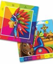 60x indianen western themafeest servetten 33 x 33 cm papier