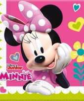 60x minnie mouse themafeest servetten 33 x 33 cm papier