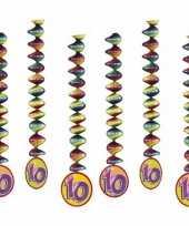 6x feestartikelen 10 jaar spiraal
