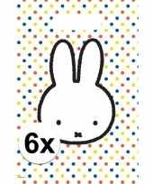 6x nijntje themafeest uitdeelzakjes snoepzakjes 30 x 21 cm