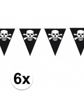 6x piratenfeest vlaggenlijnen