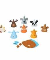 Dieren feesthoedjes knutselen 8 stuks