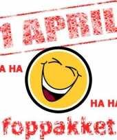 Feest 1 april familie pest pakket
