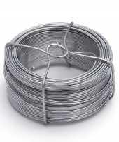 Feest 1 rolletje ijzerdraad binddraad binddraden staal verzinkt 1 5 mm x 50 m