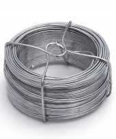 Feest 1 rolletje ijzerdraad binddraad binddraden staal verzinkt 1 8 mm x 50 m op rol