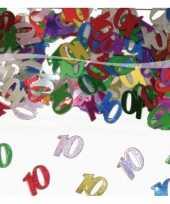 Feest 10 jaar confetti gekleurd