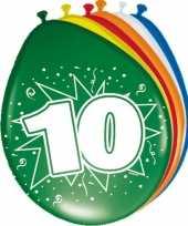 Feest 10 jaar versiering ballonnen 30cm 16x stuks