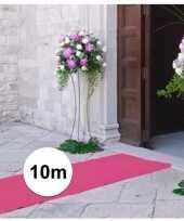 Feest 10 meter lichtroze decoratie loper 1 meter breed