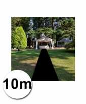 Feest 10 meter zwarte loper 1 meter breed
