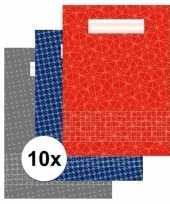 Feest 10 stuks school schriften a4 met ruitjes 10 mm