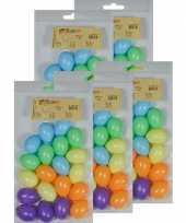 Feest 100x gekleurde kunststof eieren decoratie 4 cm hobby