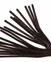 Feest 10x buigbare pijpenragers bruin 50 cm