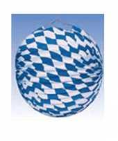 Feest 10x lampionnen decoratie blauw wit 25 cm