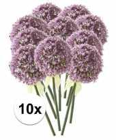 Feest 10x lila sierui kunstbloemen 70 cm