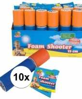 Feest 10x speelgoed waterpistool van foam 15 cm