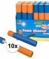 Feest 10x speelgoed waterpistool van foam 33 cm