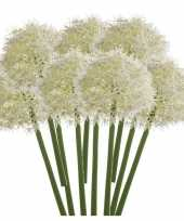 Feest 10x witte allium sierui kunstbloemen 65 cm