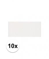 Feest 10x witte crepla plaat met 20 x 30 x 0 2 cm