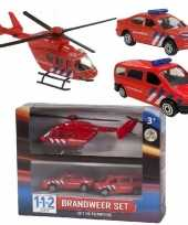 Feest 112 brandweer speelvoertuigen 3 delig