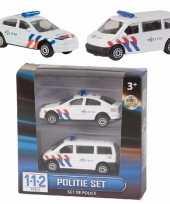 Feest 112 politie auto setje van 2 stuks