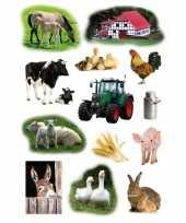 Feest 117x boerderij dieren stickers