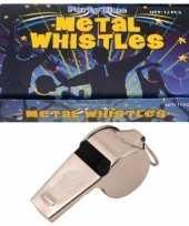 Feest 12 x metalen scheidsrechter fluitjes