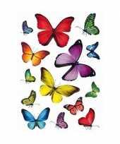 Feest 126x vlinders dieren stickers